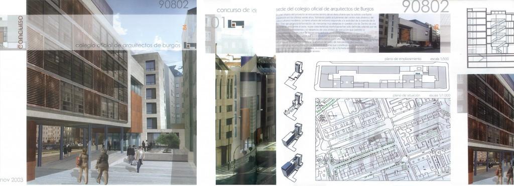 Ventiseisdes et journal de burgos pour deux concours dans - Colegio arquitectos leon ...